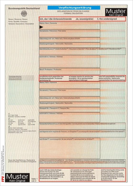 Obligation Letter Sample